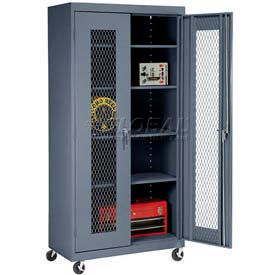Expanded Metal Mobile Storage Cabinets