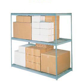 5'H Boltless Wide Span Metal Storage Rack With Wire Deck
