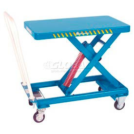 Self-Elevating Scissor-Style Mobile Spring Lift Work Positioning Tables