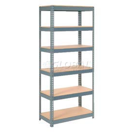 5' High Boltless Steel Shelving With Wood Deck
