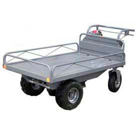 Off-Road Traction Drive Battery Powered Electric Platform Trucks