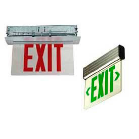 Recessed Edge-Lit Exit Signs