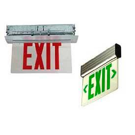 Recessed Edge-Lit Exit Signs
