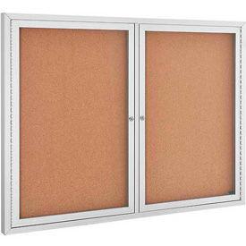 2 Door Aluminum Frame Cork Boards