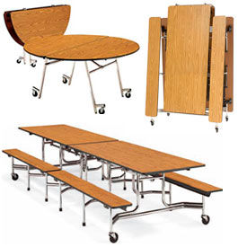Virco® - Folding Roll-A-Way Table