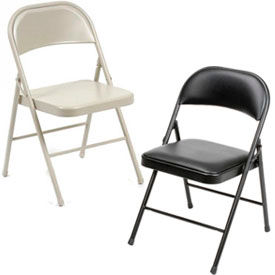 Interion® Steel Folding Chairs