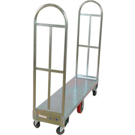 Wesco® Galvanized Steel Deck Narrow Aisle High End Platform Trucks