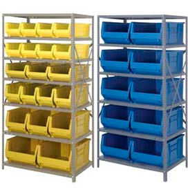 "Steel Shelving 36 x 24 x 75 With 24""D Jumbo Bins"