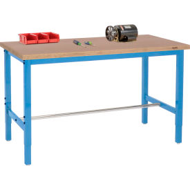 Heavy Duty Height Adjustable Production Workbenches - Blue