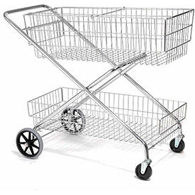 Wire Utility Basket Mail & Office File Cart