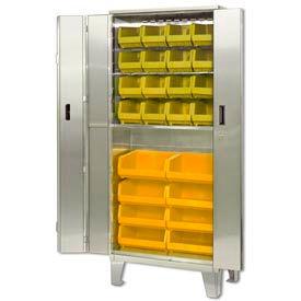 All-Welded Stainless Steel Bi-Fold Door Bin Cabinets