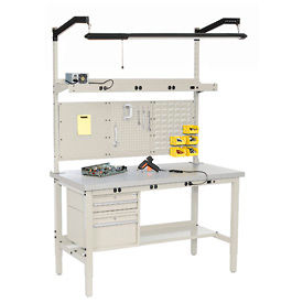 Heavy Duty Electronic Production Benches - Tan