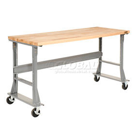 Mobile C-Channel Flared Leg Fixed Height Workbenches