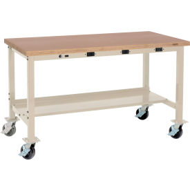 Mobile Heavy Duty Tubular Leg Production Workbenches With Power Apron