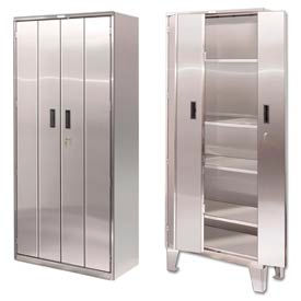 Heavy Duty Stainless Steel Bi-Fold Storage Cabinets