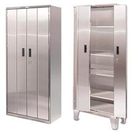Heavy Duty Stainless Steel Bi-Fold Storage Cabinets