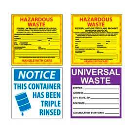 Hazmat Hazardous Waste Labels
