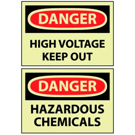 Glow - Chemical Hazard & Storage Signs
