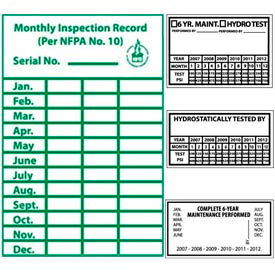 Fire Maintenance & Inspection Labels