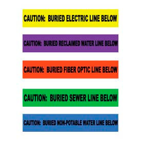 Non-Detectable Warning Tapes