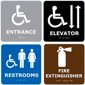 Graphic Braille Signs