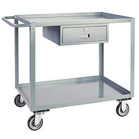 Steel Stock & Utility Carts with Drawers