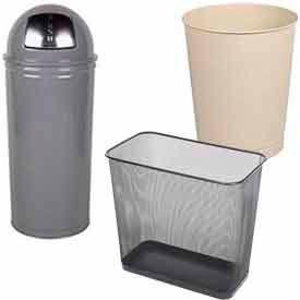 Rubbermaid® Steel Desk Side Wastebaskets