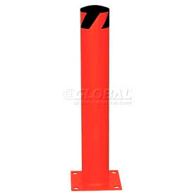 Red Steel Safety Bollards With Removable Rubber Cap