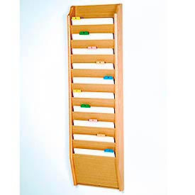 Wooden Mallet -  Wall Mount Chart Holders