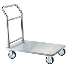 Aarco Chrome Hotel Luggage Platform Truck