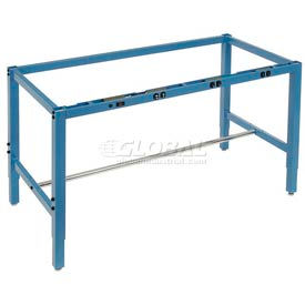 Heavy Duty Height Adjustable Production Bench Frames – Blue