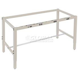 Heavy Duty Height Adjustable Production Bench Frames – Tan