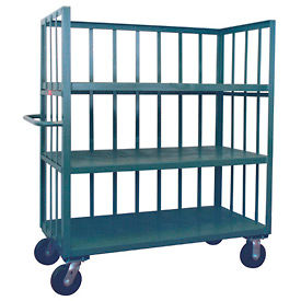 Three-Sided Steel Shelf Trucks with Slatted Panels