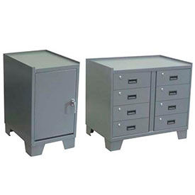 All-Welded Heavy Duty Cabinets With Work Surface And Sided Lips