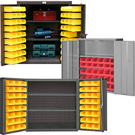 All-Welded Wall Mounted and Bench High Bin Cabinets