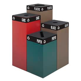 Public Square® Steel Recycling Containers