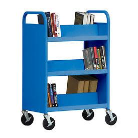 Sandusky® Welded Double-Sided Sloped-Shelf Book Carts
