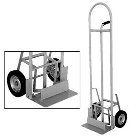 Vestil High Back Aluminum Hand Truck with Push-Out Nose Plate