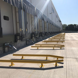 Loading Dock Wheel Alignment Curbs