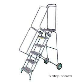 Stainless Steel Fold-N-Store Rolling Ladders