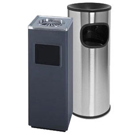 Steel Ash And Trash Receptacle