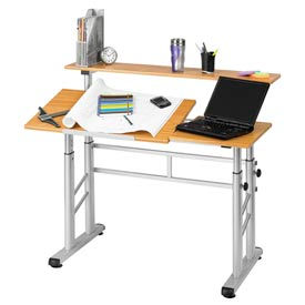 Safco® Height Adjustable Split Level Drafting Table
