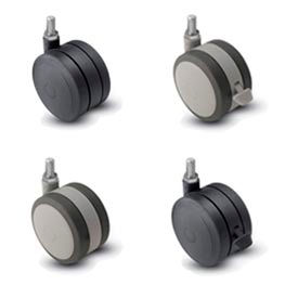 Shepherd® Softech Threaded Stem Soft Tread Casters
