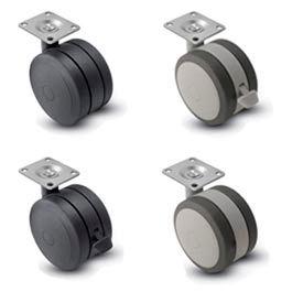 Shepherd® Softech Swivel Top Plate Soft Tread Casters