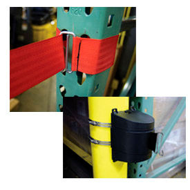 Tensabarrier® Wall Mount Barriers With Wire Clip Ends