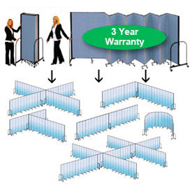 Screenflex® - Fabric Upholstered Mobile Room Dividers - 6 Ft 8 In Height