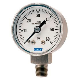 Wika® Small Stainless Steel Industrial Gauges