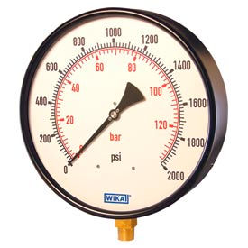 "Wika® Black Steel 10"" Industrial Pressure Gauges"