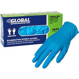 Global Industrial Powder-Free Disposable Nitrile Gloves