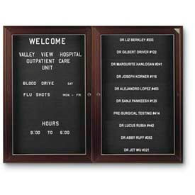 Outdoor Non-Illuminated 2-3 Door Letter Boards
